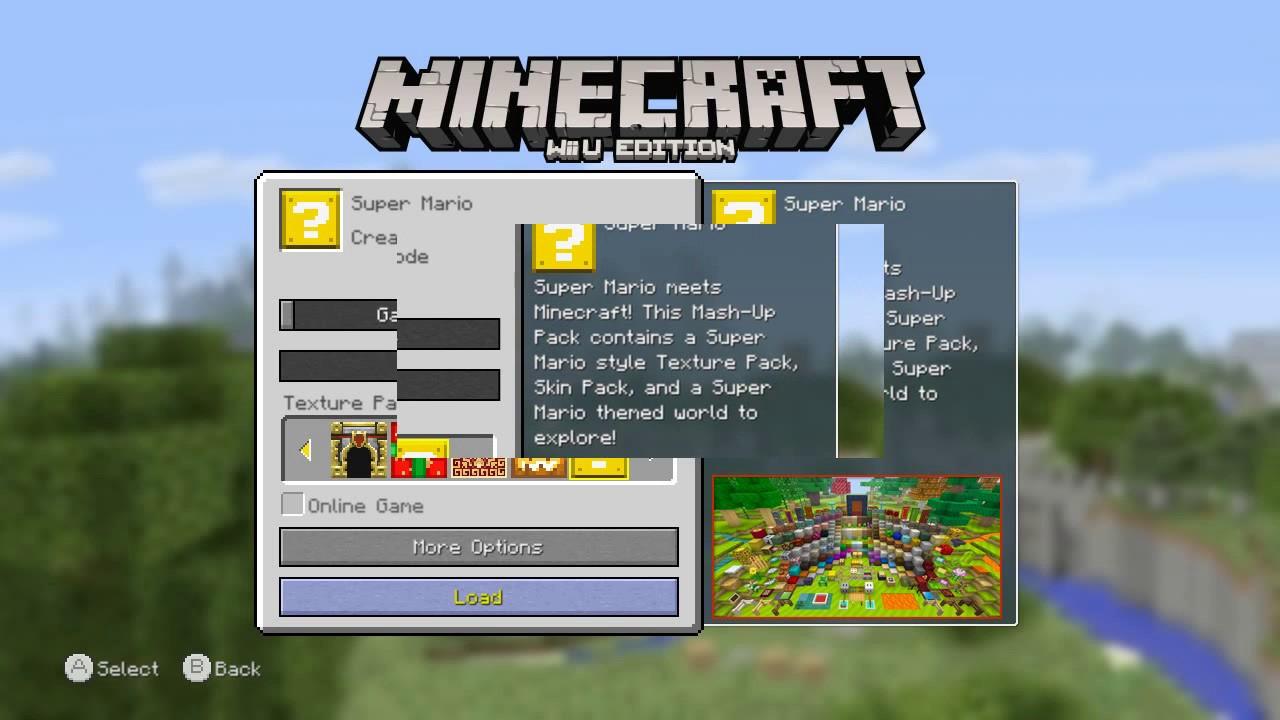 Wii U Emulator Cemu Minecraft Super Mario Edition Game Running