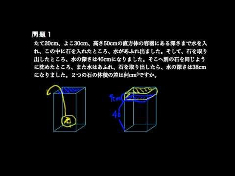 水の容器と体積 反転授業 算数