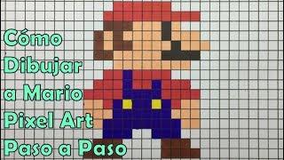 Cómo Dibujar a Mario en 8-bit o Pixel Art! TUTORIAL PASO A PASO