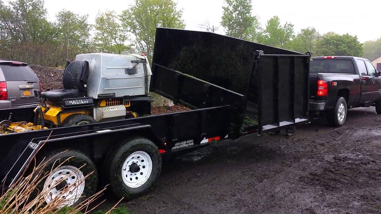Side Dump Landscape Trailers E Sd Hydraulic Dump Felling Trailers