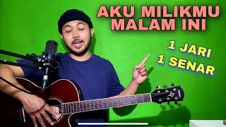 Download lagu Tutorial Melodi (AKU MILIKMU MALAM INI) cuman pake 1 JARI 1 SENAR (Guitar)