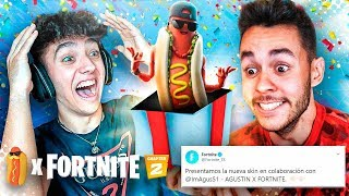 TheGrefg me regala MI SKIN EN FORTNITE! *Agustin51 x Fortnite*