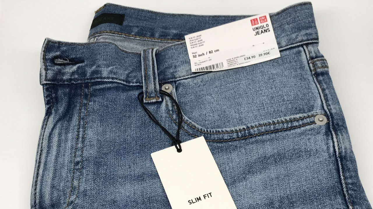 5c883966 Uniqlo Men Slim Fit Jeans in 4K - YouTube