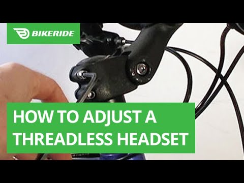 How to Adjust a Threadless Headset (with Video) | BikeRide
