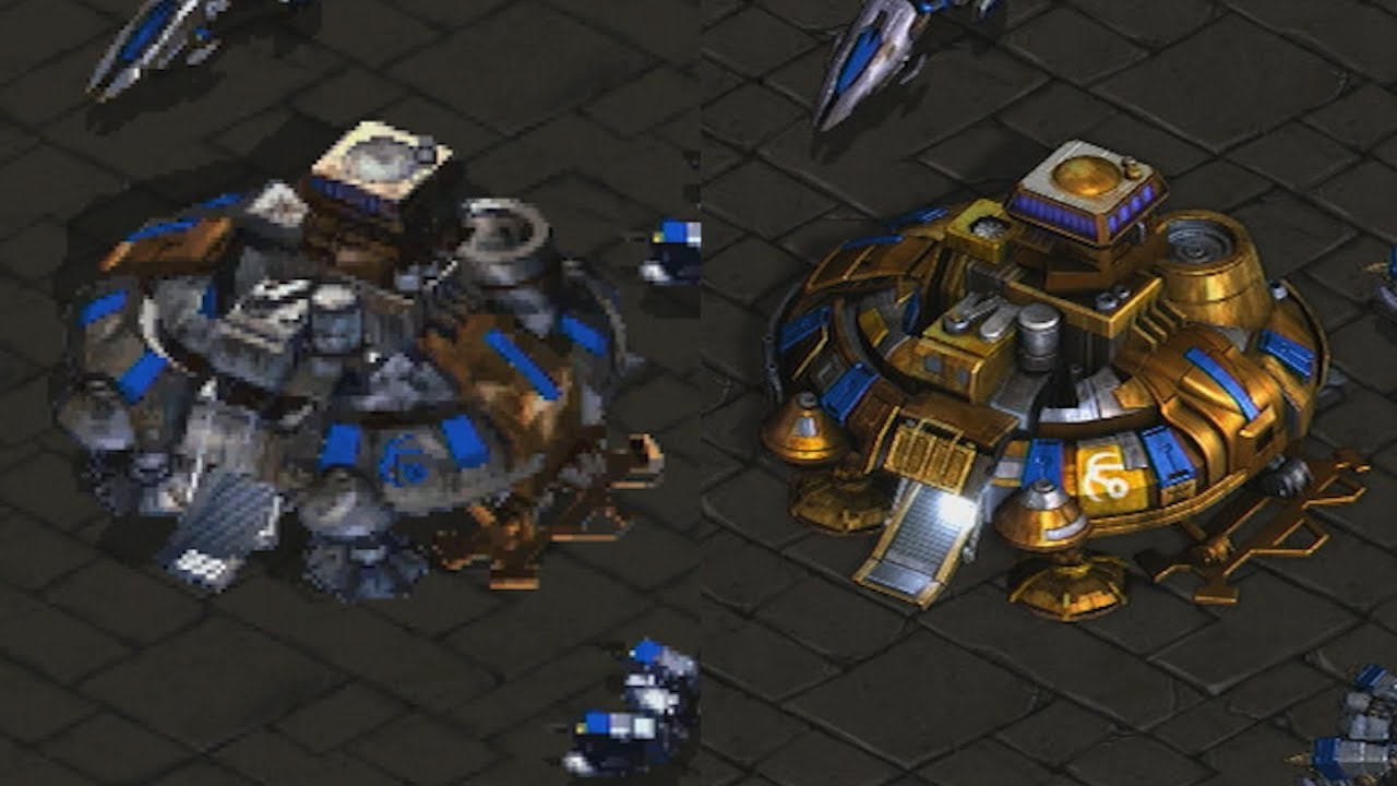 Starcraft Remastered Graphics Comparison Classic Vs Remastered