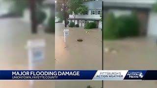 Flash flooding causes major damage in Uniontown