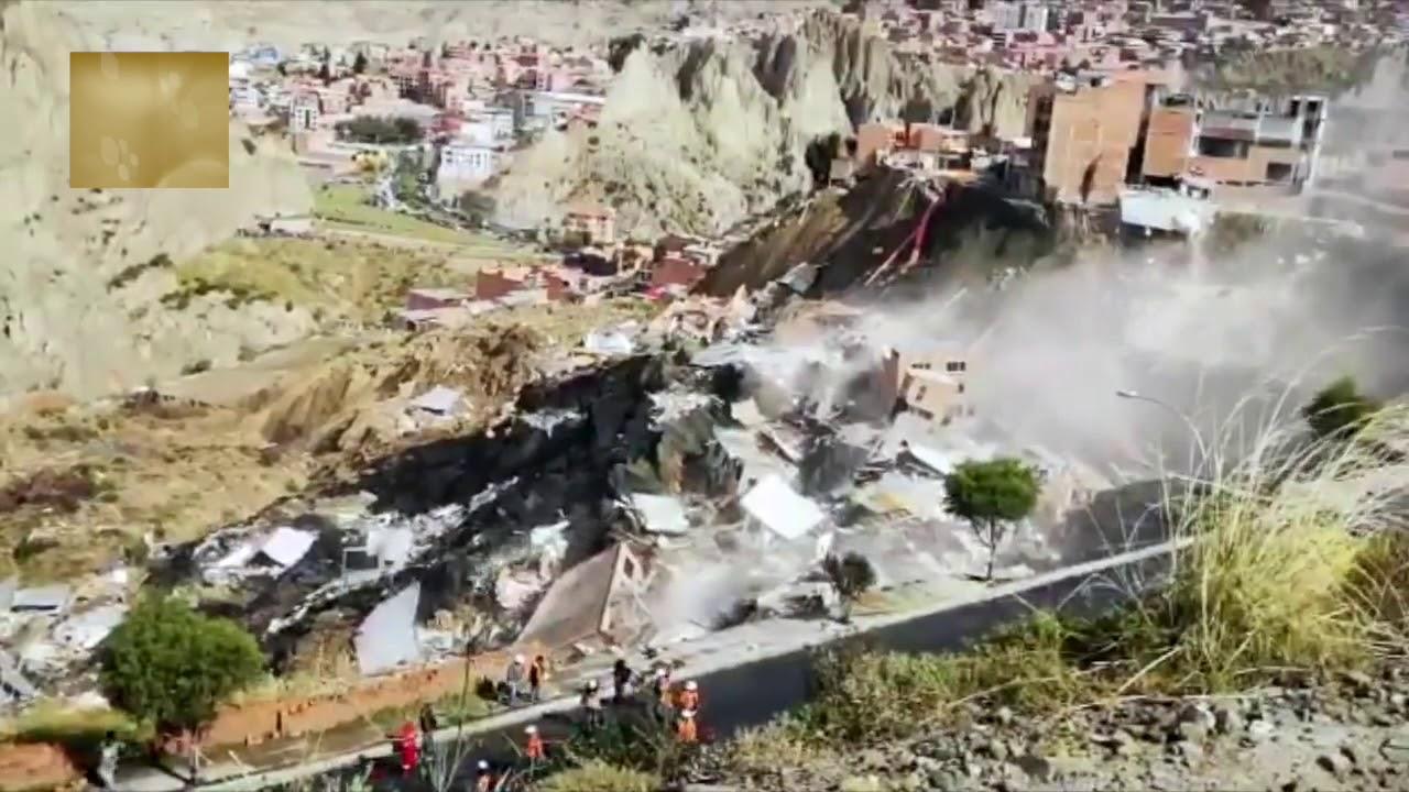Deslizamiento en La Paz, Bolivia - Abril 30, 2019