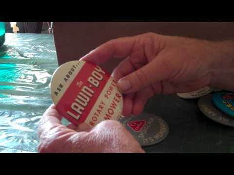 Collectibles Button Collection Box from Texas Part 3 with Hop Along Cassady