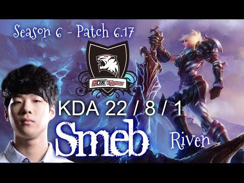 ROX Smeb RIVEN vs YASUO Top - Patch 6.17 KR | League of Legends