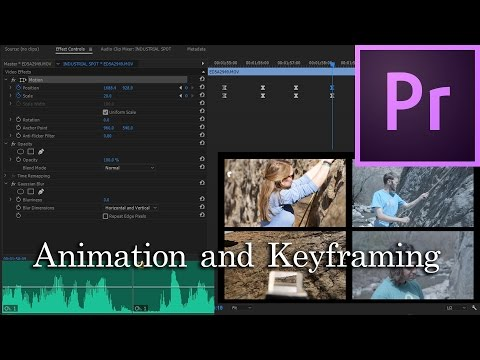 E29 - Animation and Keyframing - Adobe Premiere Pro CC 2017