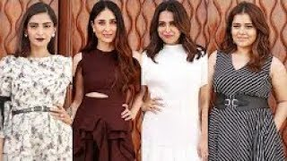 KARENA KAPOOR,SHIKHA TALSANIA,SWARA & SONAM SPOTTED DURING VEERE DI WEDDING PROMOTION