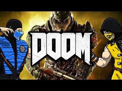 scorpion-&-sub-zero-play---doom-2016-|-mkx-gameplay-parody!