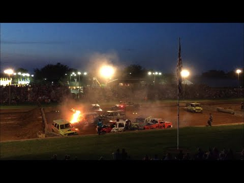 SUV/Mini Van/Small Truck Demo Derby Lebanon Area Fair 2018