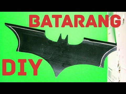 How to make a BATARANG with PVC PIPE - BATMAN
