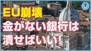 【EU崩壊】イタリアの銀行が危機的状況!日本と同じやり方で回復できるか?