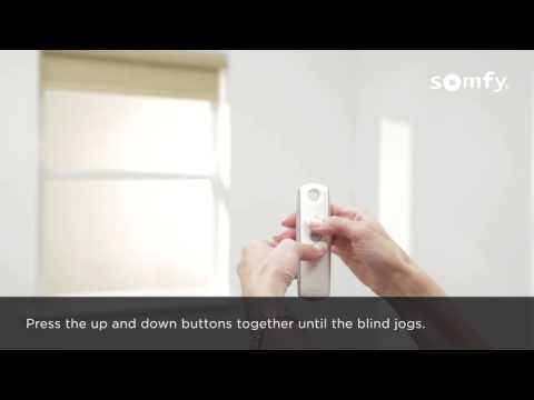 Somfy RTS Electric Roller Blinds - Programming - Single Channel