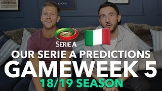 Serie A Tips - Gameweek 5 - 2018/2019