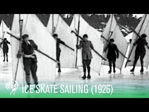 New Sport: Solo Ice-Skate Sailing (1926) | Sporting History