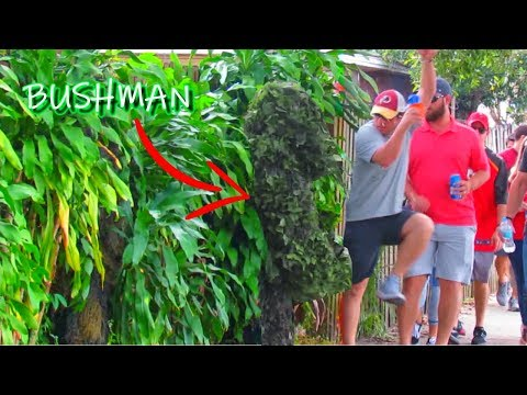 BUSHMAN SCARE PRANK AT WASHINGTON REDSKINS VS TAMPA BAY BUCCANEERS