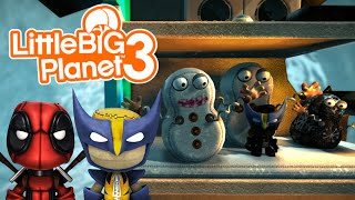 Derpy Snowman & Bomb Survival! | Little Big Planet 3 Multiplayer (20)