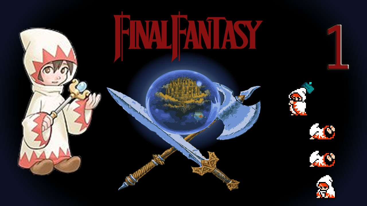 1 Lets Stream FF1 NES Solo White Mage Vs Garland YouTube