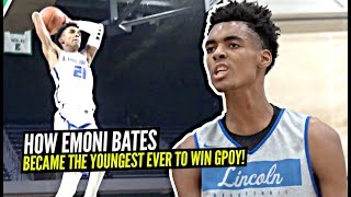 This Is How Emoni Bates Became The Youngest Player Ever To Win The Player Of The Year Award At 16!