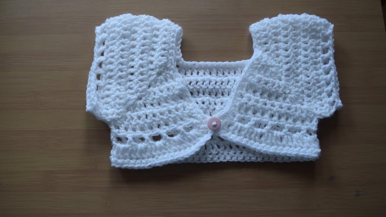 Crochet Bolero Shrug Crochet Cardigan Baby Cardigan Youtube