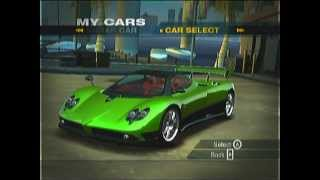 NFS Undercover (Wii) My Cars
