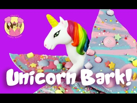 PASTEL RAINBOW UNICORN CANDY BARK!  Easy Kids Baking Treat By Charli's Crafty Kitchen