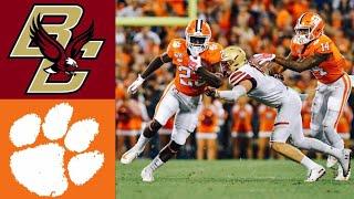 Boston College vs #4 Clemson Highlights | NCAAF Week 9 | College Football Highlights