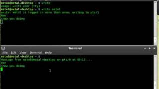 Chat in the terminal with WRITE - Linux