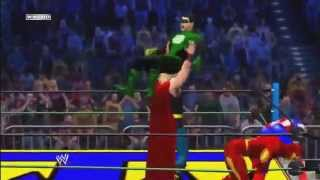 WWE 12 - The Justice League vs The Avengers [Movie Promo]! - 6 Man Elimination Tag Match