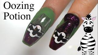 4D Oozing Potion Bottle Acrylic Nail Art Tutorial