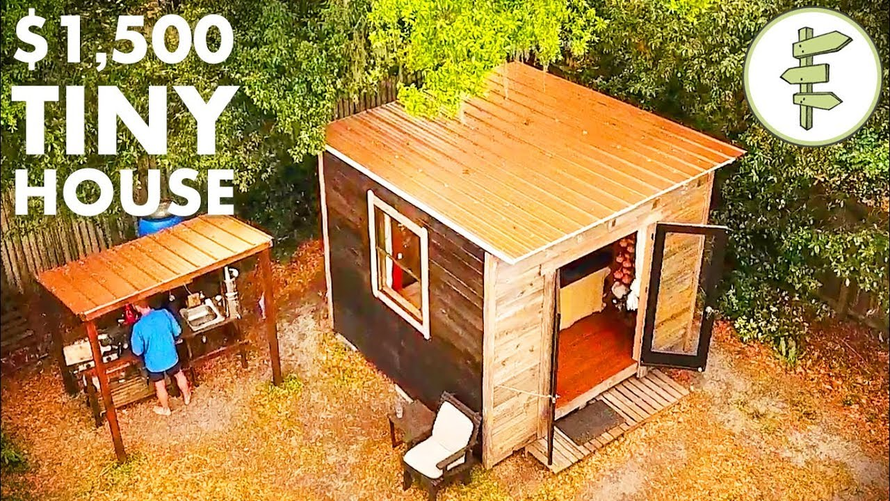 Man Living In A 10 X10 Tiny House Homesteading In The