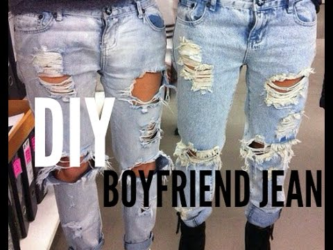 Diy Boyfriend Jean Youtube
