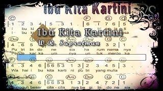 Download Mp3  Karaoke  ♬ W.r. Supratman - Ibu Kita Kartini ♬ +lirik Lagu  Piano