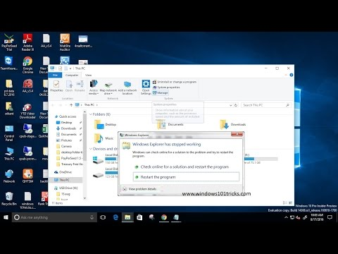 How To fix windows explorer has stopped working windows 7, 8.1, 10