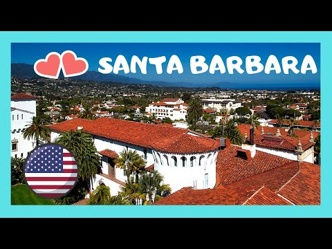 Spectacular views of Santa Barbara from the Courthouse Tower, California (USA)
