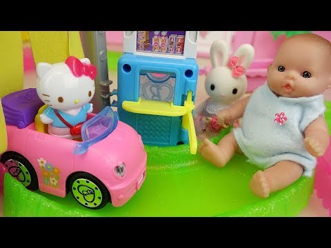 Baby Doll auto Car shop and Hello Kitty toys baby...