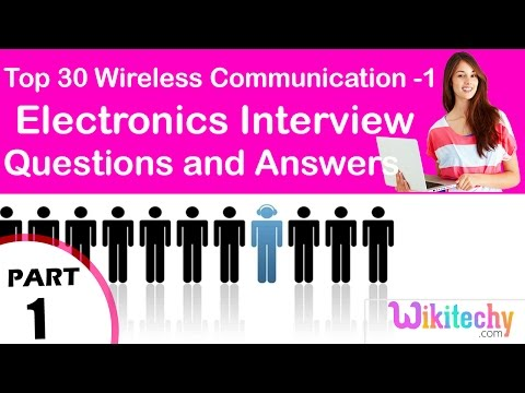Top 30 Wireless Communication -1 ece Interview Questions and