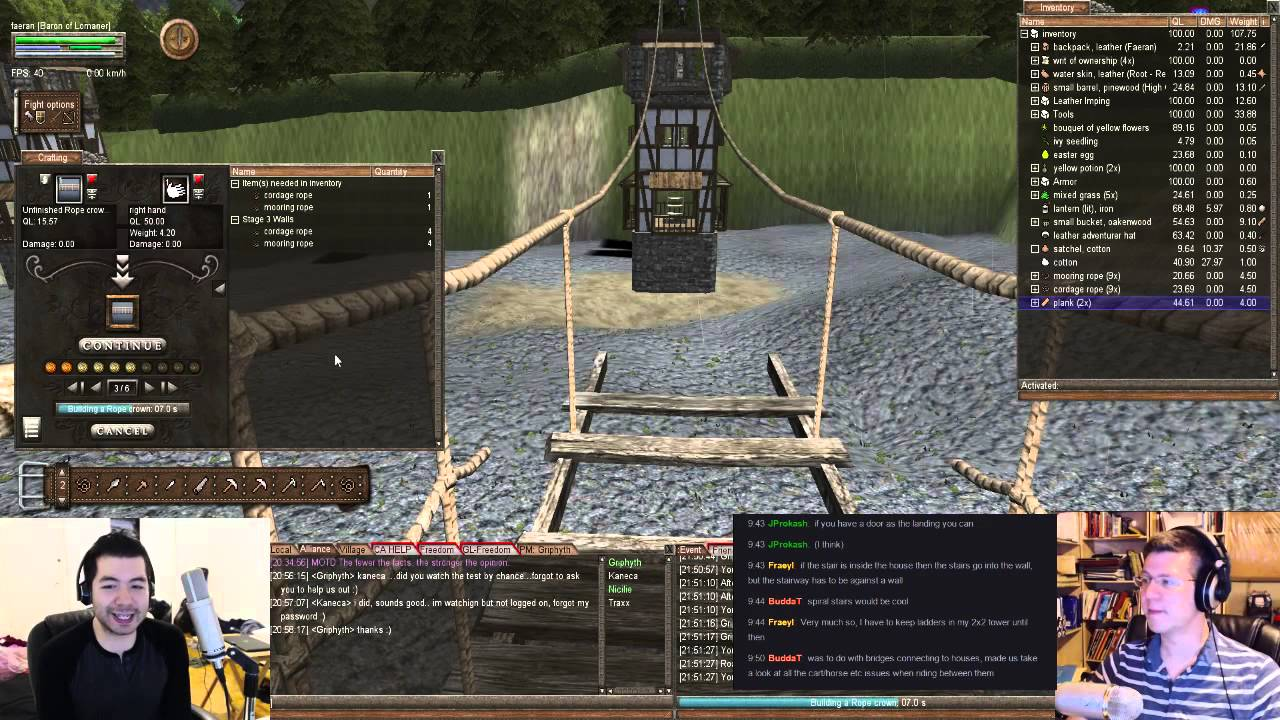 Building bridges factional fight plays wurm online youtube for Builders unlimited