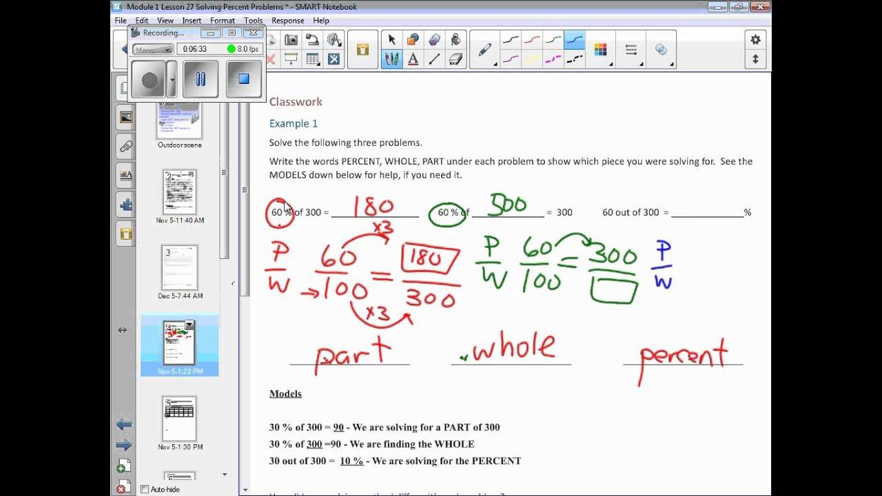 Module 1 Lesson 27 Solving Percent Problems