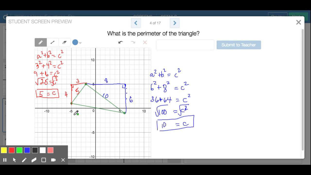 Finding Perimeter Of A Triangle In Coordinate System Edited Diagram 6 Orthocentre Point Generation