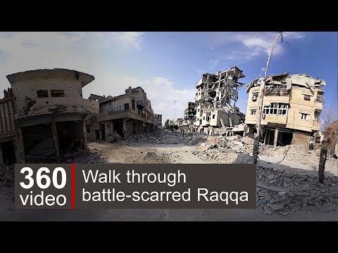 Raqqa streets in 360 video – BBC News