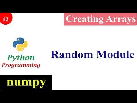 Creating NumPy Arrays with Random Numbers | Python Tutorials thumbnail