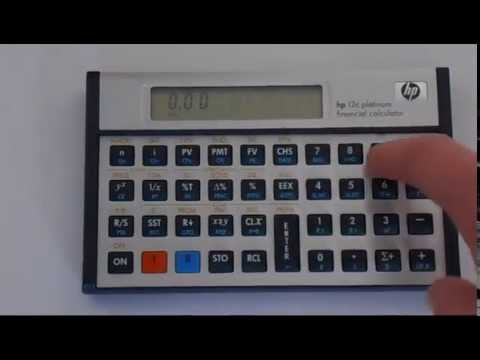 hp12c change the number of decimal places on the display youtube rh youtube com HP 12C Platinum HP 12C Calculator