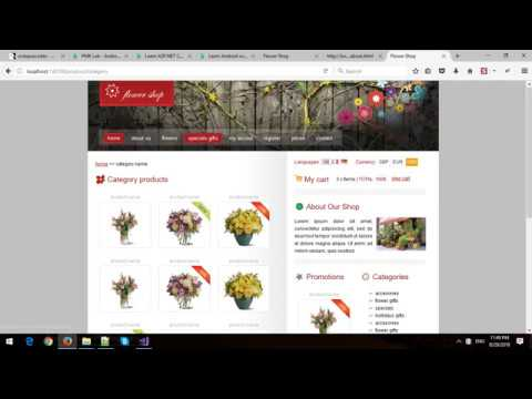 Building Flower Shop Website Template In Asp Core Mvc Youtube