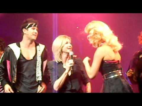 XANADU MELBOURNE OPENING Olivia Newton John on stage