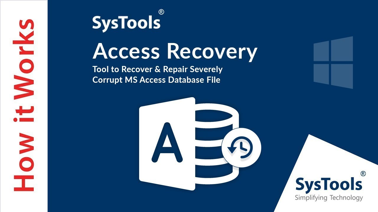 Access Database Recovery Software Repairs MS Access MDB