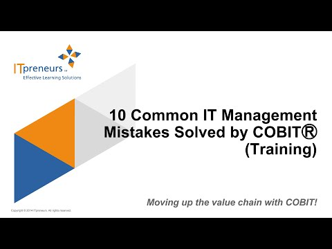 10 Common IT Management Issues Solved by COBIT (Training)